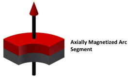 arc alnico magnet magnetization options